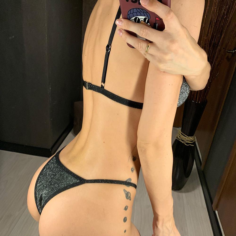 Shiny Sparkling Tiny Bikini