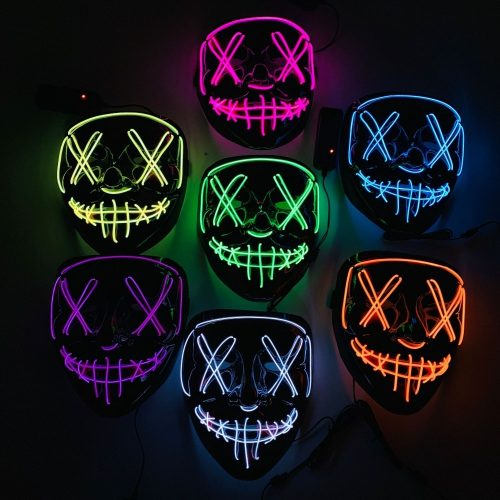 Light Up Festival Purge Mask