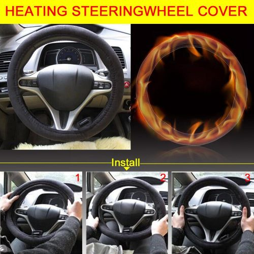 Winter Heated Steering Wheel Cover