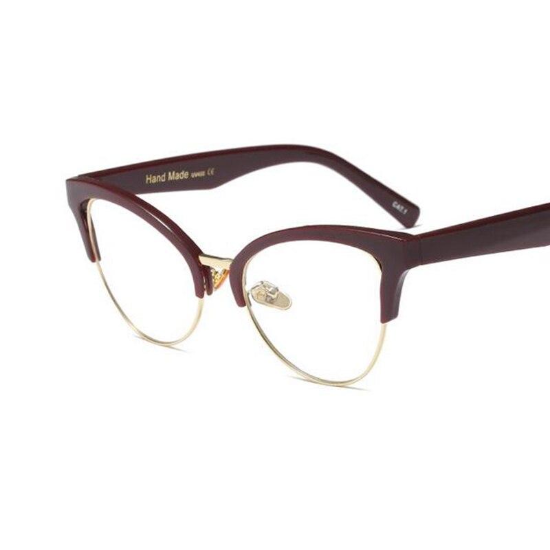 Transparent Cat Eye Hipster Glasses