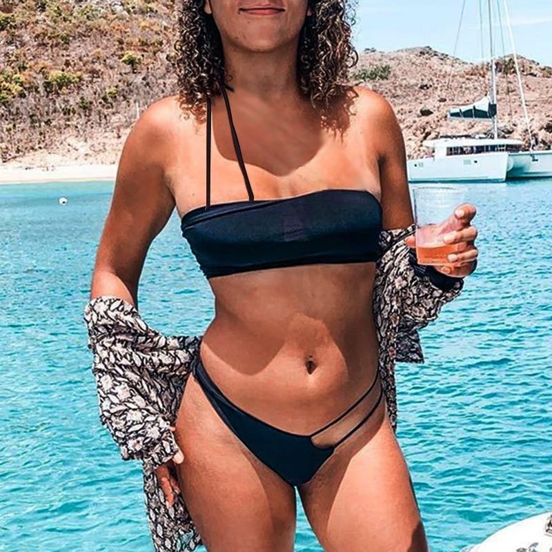 One Shoulder Thong Bikini