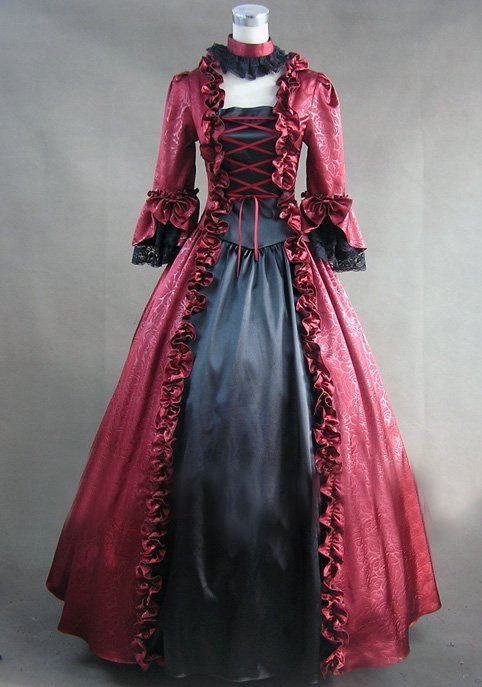 Long Sleeved Victorian Dresses