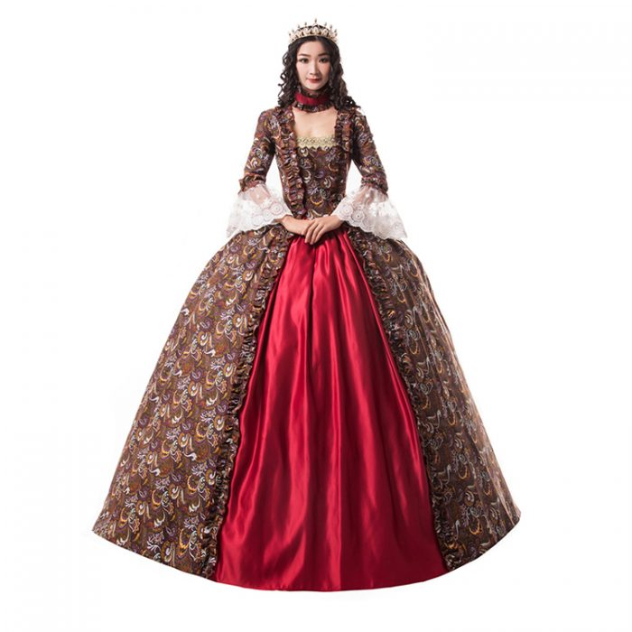 Red Ball Gown Victorian Dress