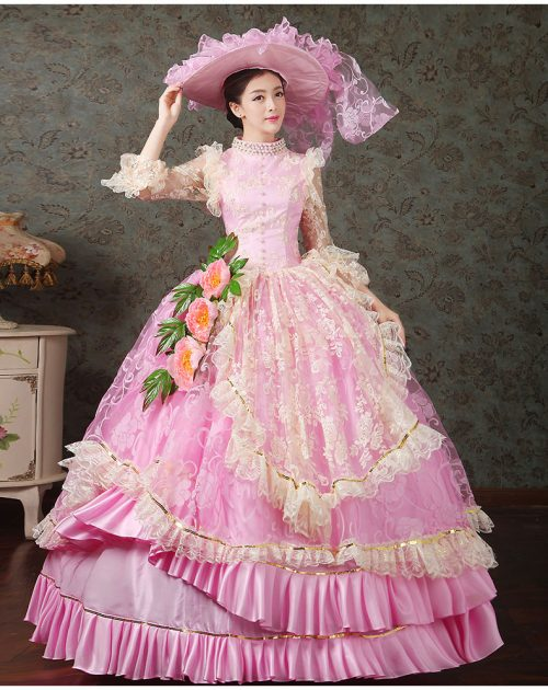 Light Pink Ball Victorian Dress