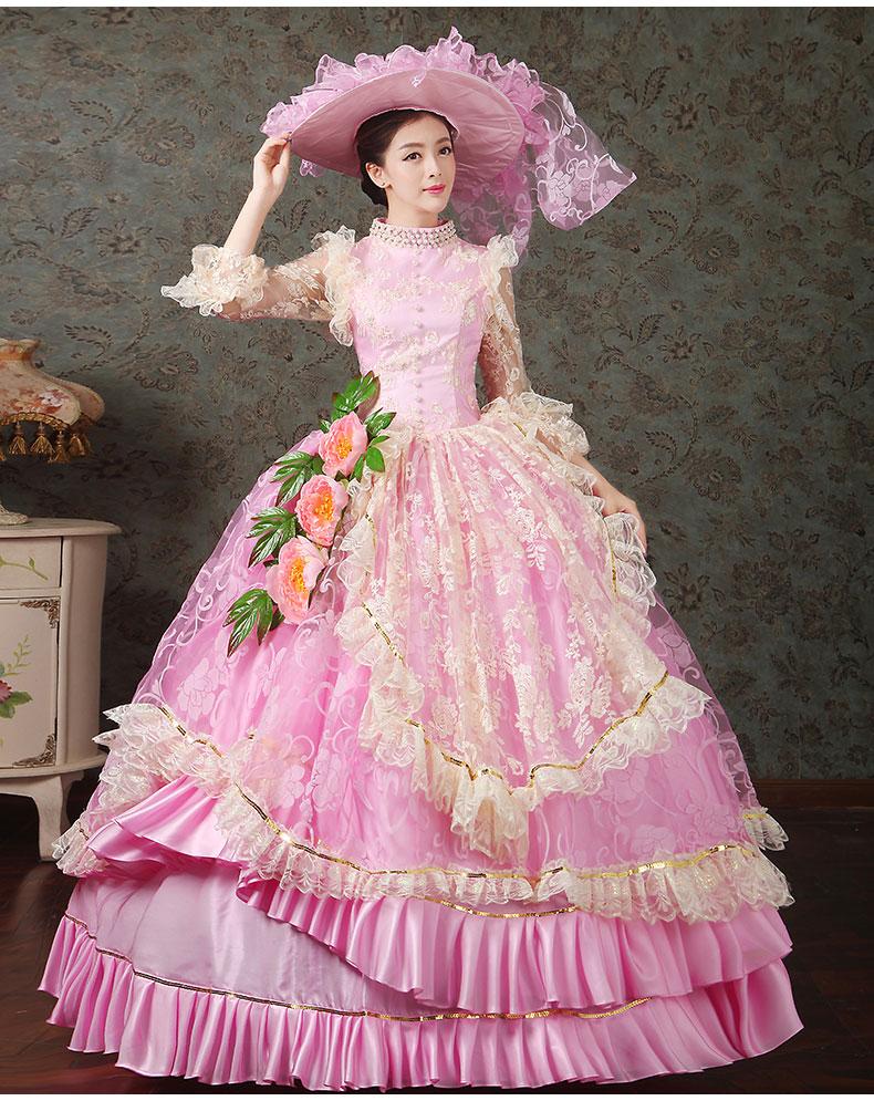 Light Pink Ball Victorian Dress